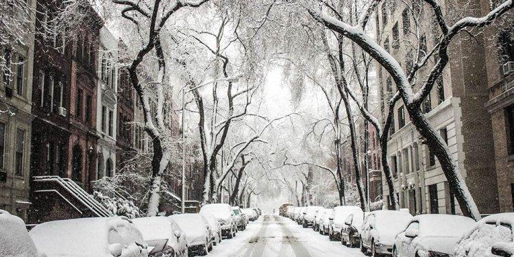 Upstate NY winter scene