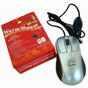 personal heater heated mouse
